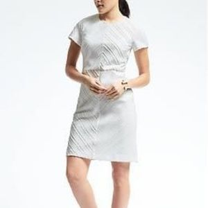 Banana Republic white jacquard dress Size 14 Tall